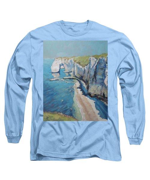 Manneport, The Cliffs At Etretat Long Sleeve T-Shirt