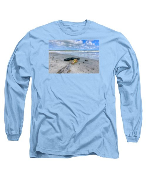 Manzanilla Beach Long Sleeve T-Shirt by Nadia Sanowar