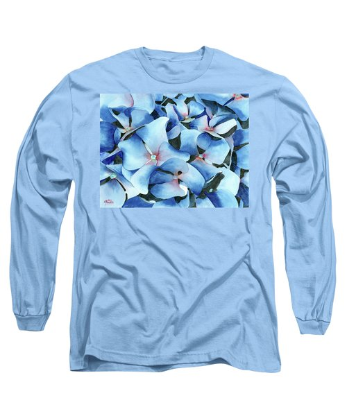 Marathon Hydrangeas Long Sleeve T-Shirt