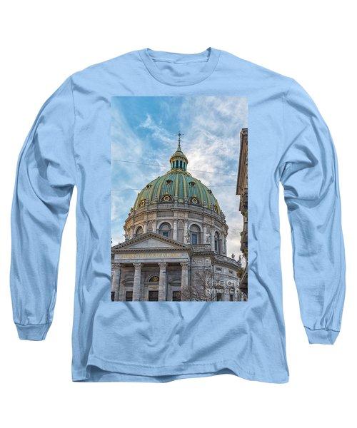 Long Sleeve T-Shirt featuring the photograph Marble Church In Copenhagen by Antony McAulay