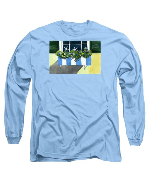 Marblehead Planter Box Long Sleeve T-Shirt by Anne Marie Brown