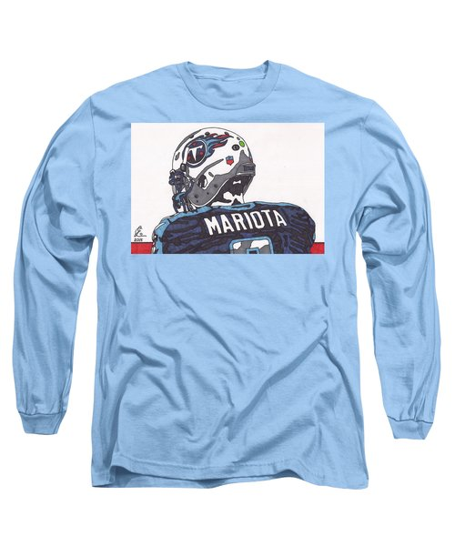 Marcus Mariota Titans 2 Long Sleeve T-Shirt by Jeremiah Colley