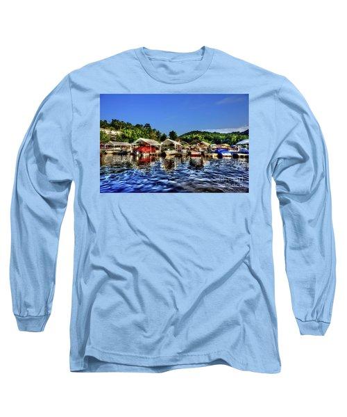 Marina At Cheat Lake Clear Day Long Sleeve T-Shirt
