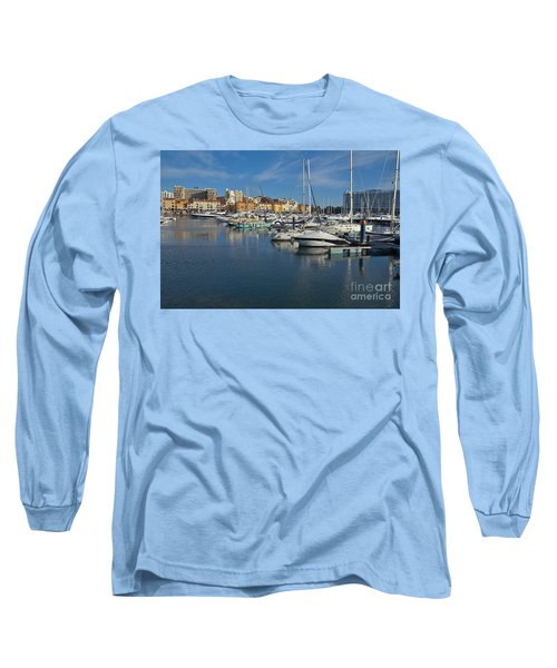 Marina Of Vilamoura At Afternoon Long Sleeve T-Shirt by Angelo DeVal