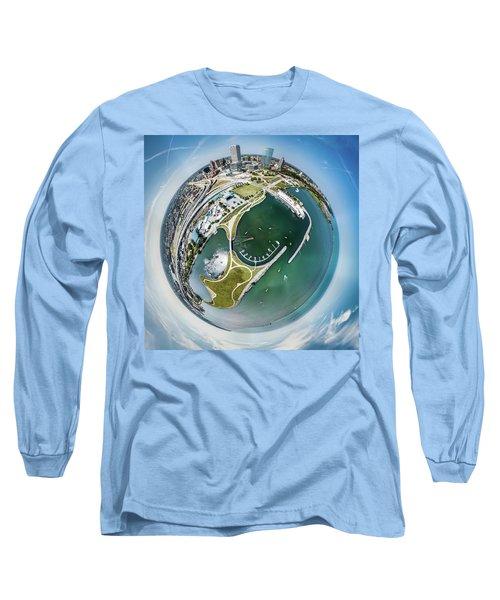 Long Sleeve T-Shirt featuring the photograph Marina by Randy Scherkenbach