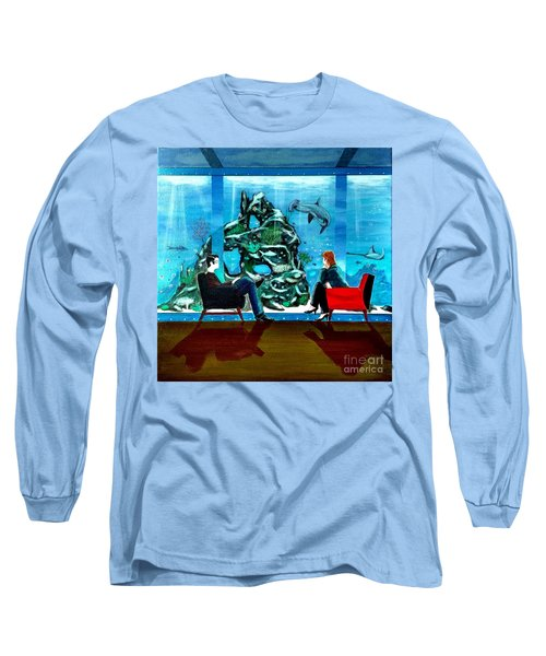Marinelife Observing Couple Sitting In Chairs Long Sleeve T-Shirt