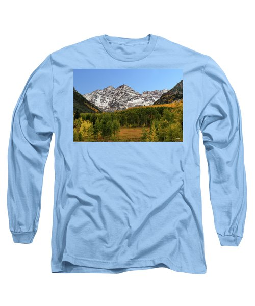 Long Sleeve T-Shirt featuring the photograph Maroon Bells by Dana Sohr