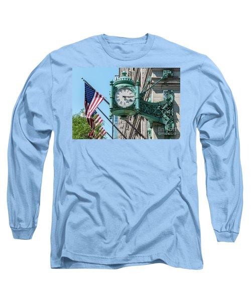 Marshall Field's Clock Long Sleeve T-Shirt