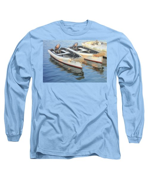 Long Sleeve T-Shirt featuring the photograph Martha's Vinyard Skiffs by Roupen  Baker
