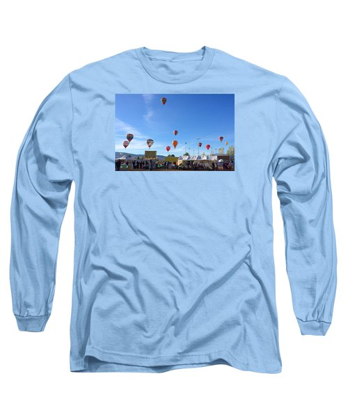 Long Sleeve T-Shirt featuring the photograph Mass Ascension Taos Balloon Festival by Brenda Pressnall