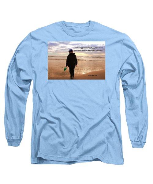 Long Sleeve T-Shirt featuring the photograph Matthew Eighteen Three by Aaron Berg