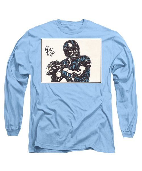 Matthew Stafford Long Sleeve T-Shirt by Jeremiah Colley