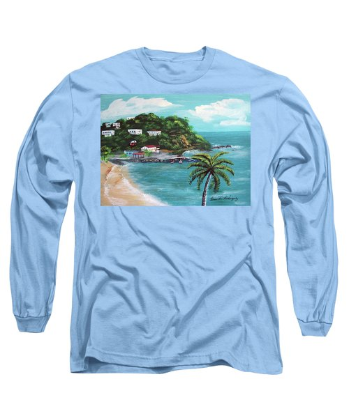 Maunabo Puerto Rico Long Sleeve T-Shirt by Luis F Rodriguez