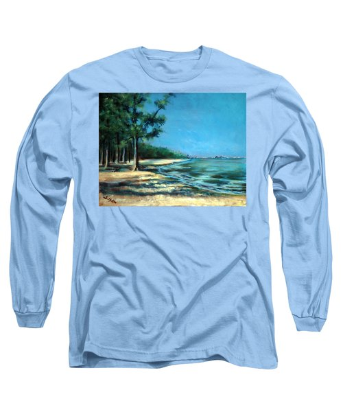 Long Sleeve T-Shirt featuring the painting Maybe A Picnic by Suzanne McKee