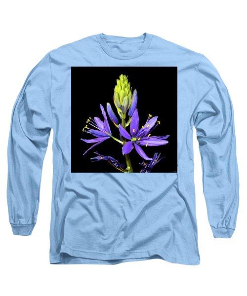 Meadow Hyacinth 002 Long Sleeve T-Shirt by George Bostian