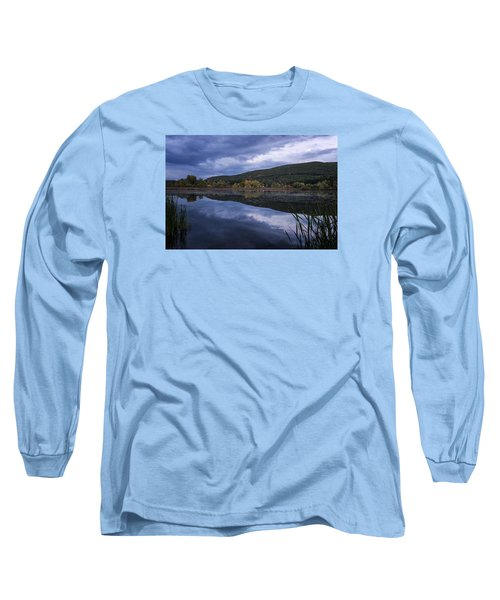 Long Sleeve T-Shirt featuring the photograph Meadows Dusk by Tom Singleton