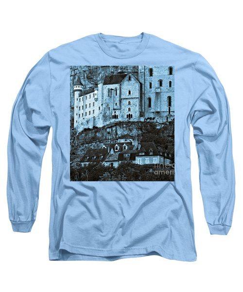 Medieval Castle In The Pilgrimage Town Of Rocamadour Long Sleeve T-Shirt