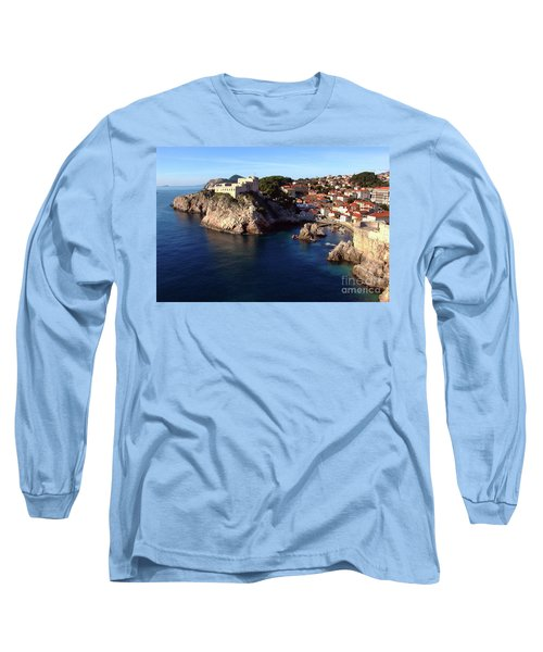 Medieval Fortresses Lovrijenac And Bokar Dubrovnik Long Sleeve T-Shirt