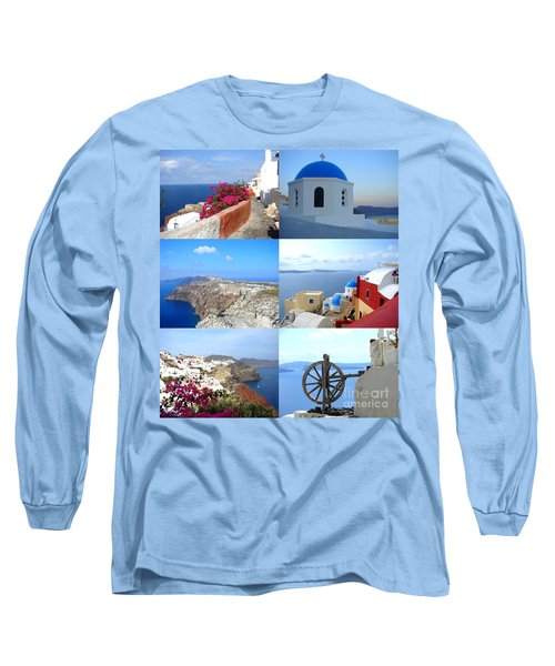 Memories From Santorini Long Sleeve T-Shirt by Ana Maria Edulescu