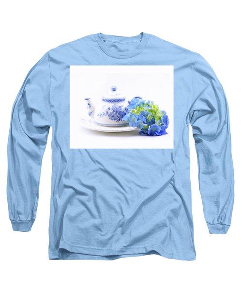 Memories In Blue Long Sleeve T-Shirt