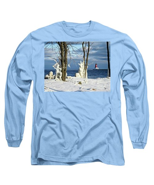 Menominee Lighthouse Ice Sculptures Long Sleeve T-Shirt
