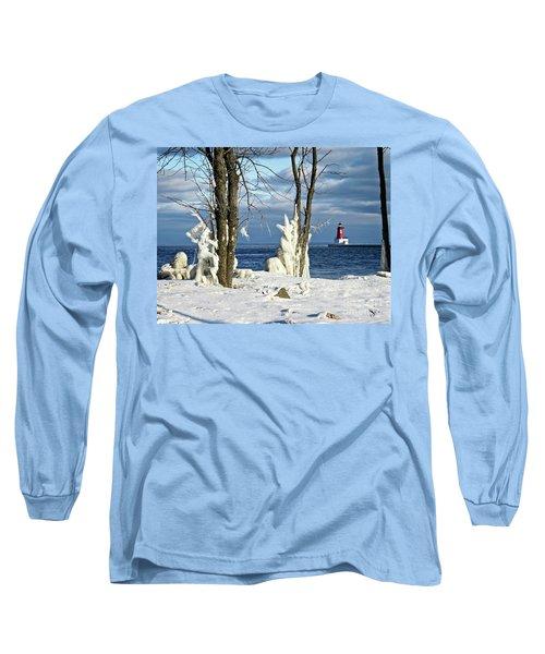 Menominee Lighthouse Ice Sculptures Long Sleeve T-Shirt