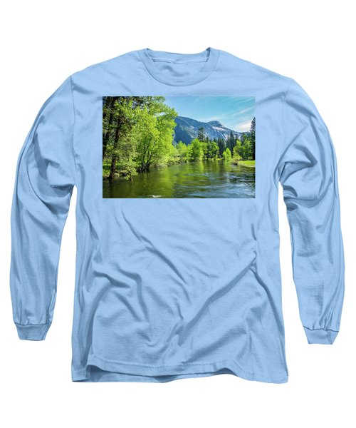 Merced River In Yosemite Valley Long Sleeve T-Shirt