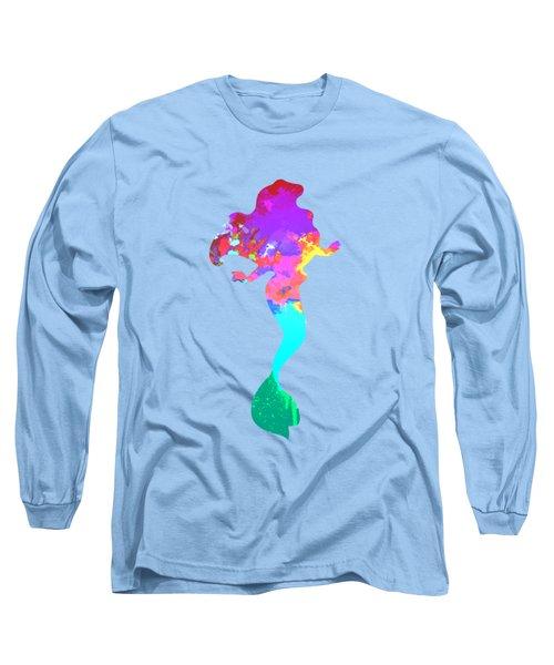 Mermaid Inspired Silhouette Long Sleeve T-Shirt by InspiredShadows
