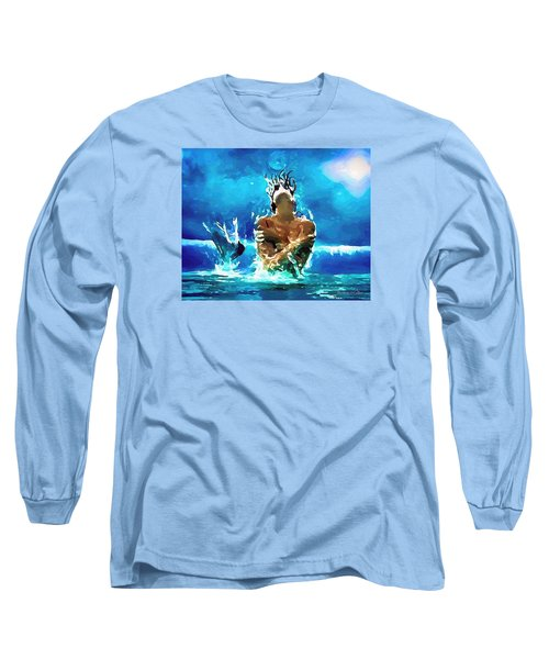 Mermaid Under The Moonlight Long Sleeve T-Shirt
