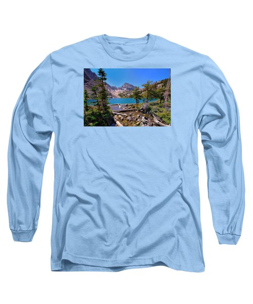 Long Sleeve T-Shirt featuring the photograph Merriam Lake by Greg Norrell