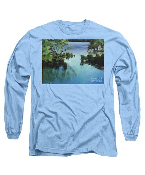 Merrimack River At Sunset Long Sleeve T-Shirt