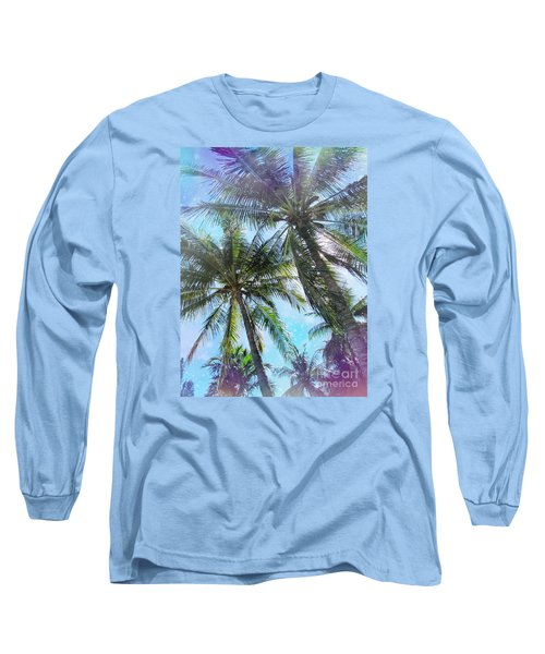 Miami Palm Trees Long Sleeve T-Shirt by France Laliberte