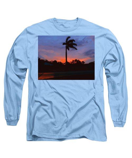 Miami Sunset Long Sleeve T-Shirt