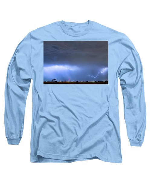 Long Sleeve T-Shirt featuring the photograph Michelangelo Lightning Strikes Oil by James BO Insogna