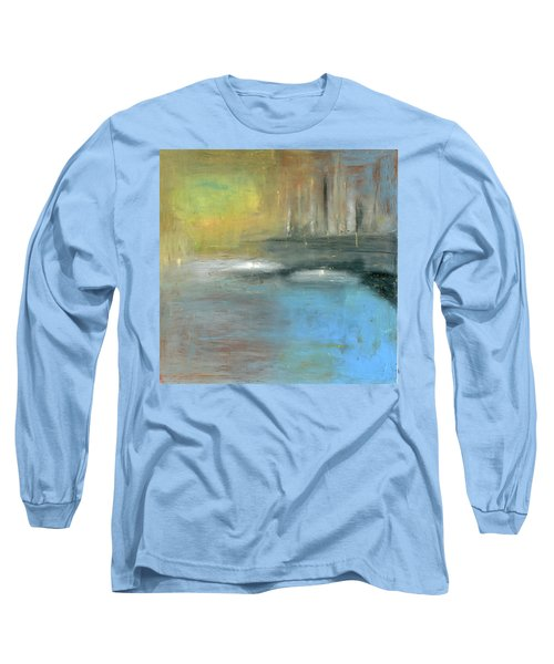 Long Sleeve T-Shirt featuring the painting Mid-summer Glow by Michal Mitak Mahgerefteh
