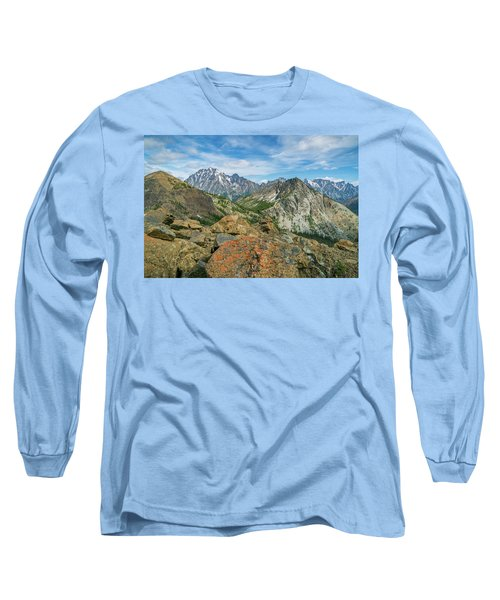 Midday At Iron Peak Long Sleeve T-Shirt by Ken Stanback