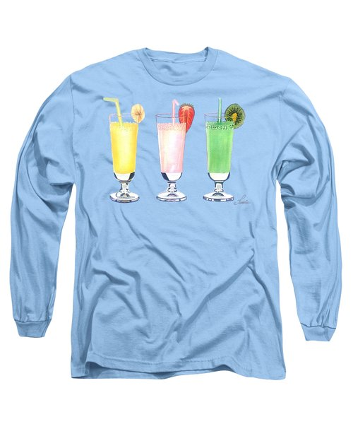 Milkshake In Style Long Sleeve T-Shirt by Sonja Taljaard