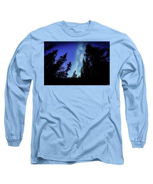 Milky Way Among The Trees Long Sleeve T-Shirt