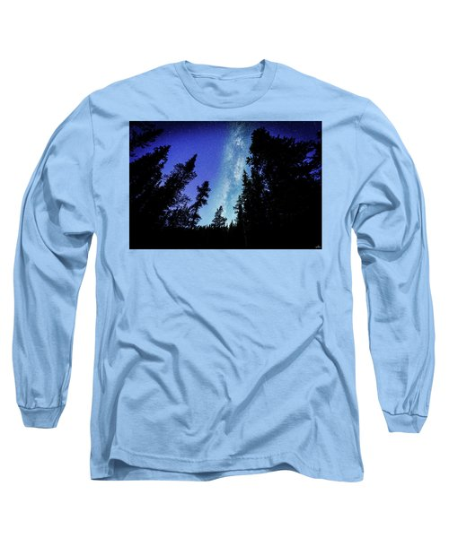 Milky Way Among The Trees Long Sleeve T-Shirt