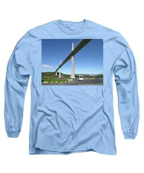 Millau Viaduct Long Sleeve T-Shirt by Jim Mathis