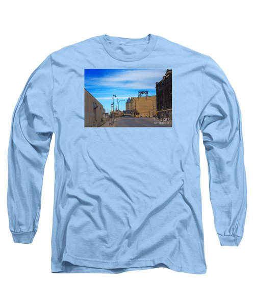 Long Sleeve T-Shirt featuring the digital art Milwaukee Cold Storage Co by David Blank