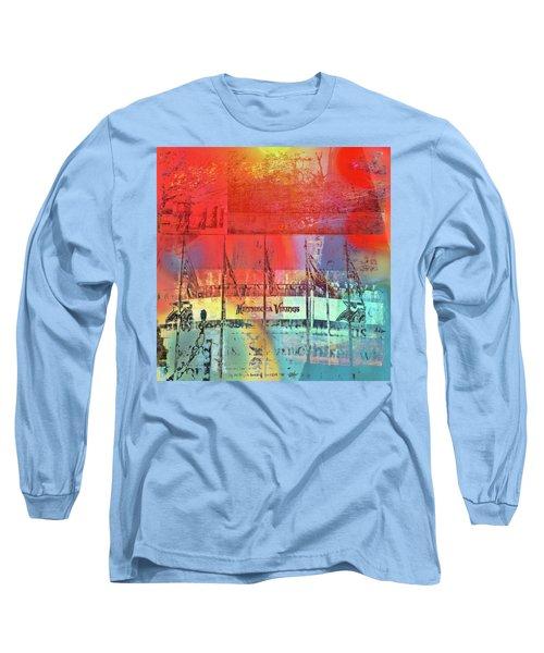 Long Sleeve T-Shirt featuring the photograph Minnesota Vikings Art by Susan Stone