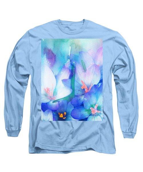 Long Sleeve T-Shirt featuring the digital art Mirthfulness by Klara Acel