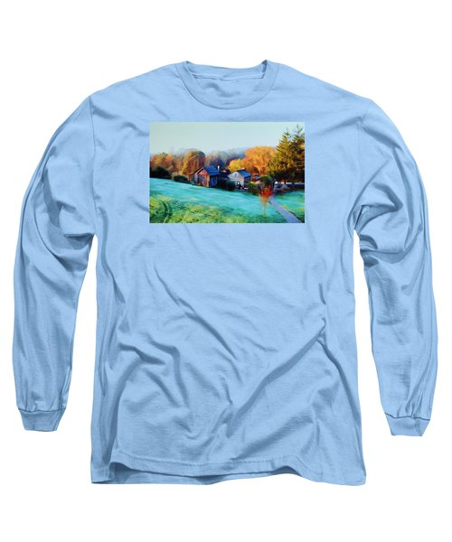 Long Sleeve T-Shirt featuring the photograph Misty Autumn Day by Diane Alexander