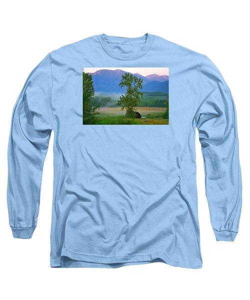 Misty Montana Evening Long Sleeve T-Shirt