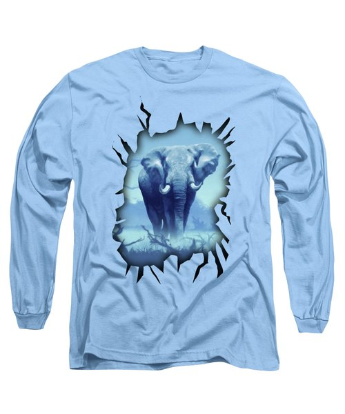Long Sleeve T-Shirt featuring the digital art Misty Morning In The Tsavo by Anthony Mwangi