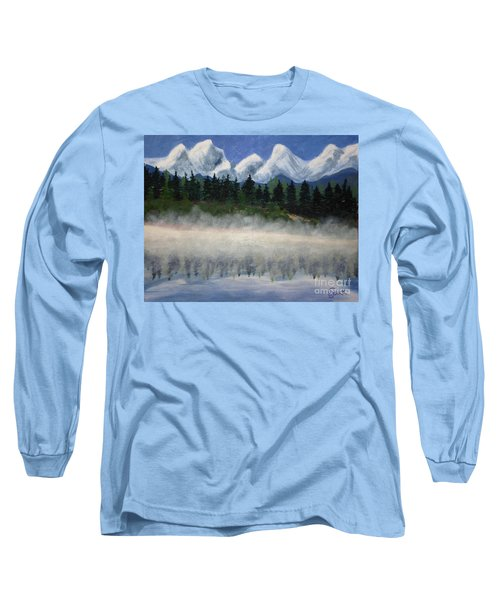 Misty Morning On The Mountain Long Sleeve T-Shirt