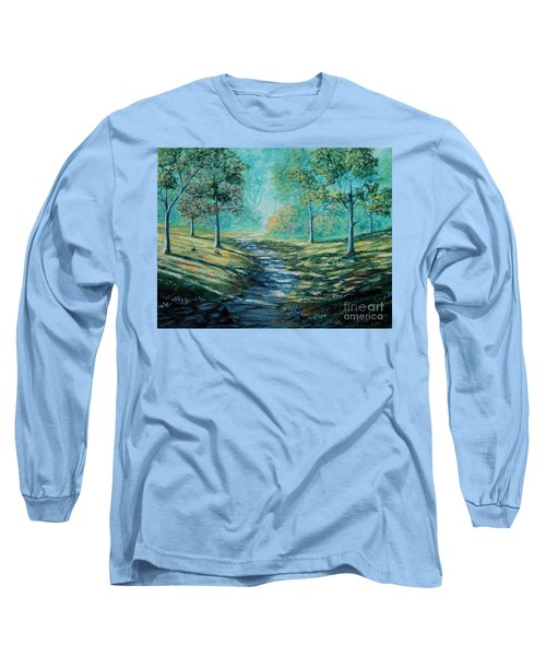 Misty Morning Path Long Sleeve T-Shirt