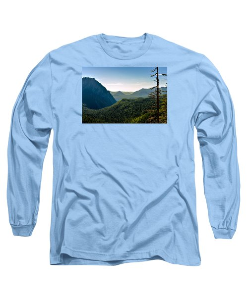 Misty Mountains Long Sleeve T-Shirt by Anthony Baatz