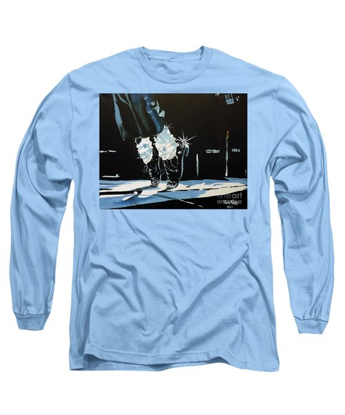 Long Sleeve T-Shirt featuring the painting Mj On His Toes by Tom Riggs
